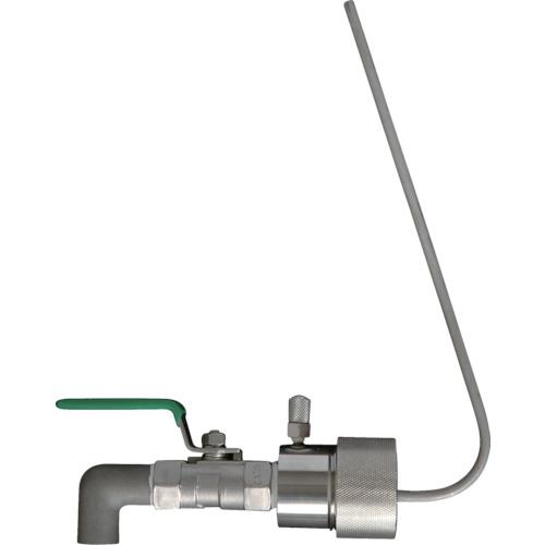 トラスコ中山 アクアシステム ペール缶用SUS製コック (レバーロック付)40mmタイプ SPL40P