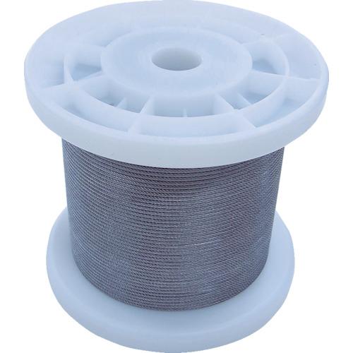 トラスコ中山 ニッサチェイン 透明コーティングワイヤロープ 0.85mm×100m 1巻 TSY8VCLR