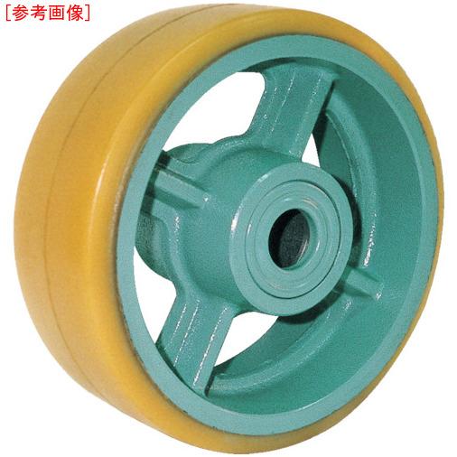 トラスコ中山 ヨドノ 鋳物重荷重用ウレタン車輪ベアリング入 UHB300X100 UHB300X100