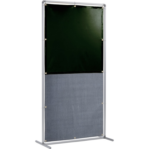 トラスコ中山 吉野 遮光火花兼用衝立(ダークグリーン×A種シート)1×2 単体固定足 YS12SFDGBW