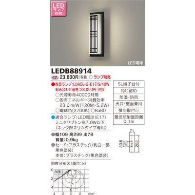 東芝 LEDアウトドアブラケット(ランプ別売) LEDB88914