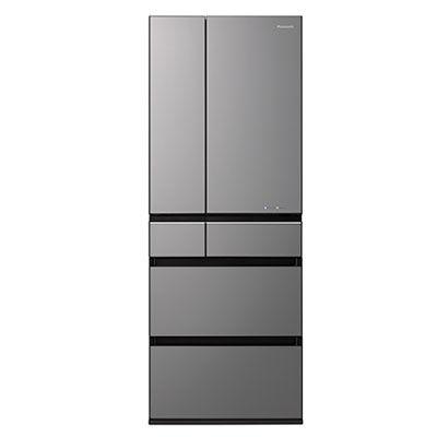 パナソニック 大容量600L6ドアフレンチドアパーシャル搭載冷蔵庫 (ミスティダークグレー(フロスト加工)) (NRF604WPXH) NR-F604WPX-H