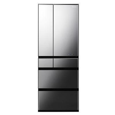 パナソニック 大容量600L6ドアフレンチドアパーシャル搭載冷蔵庫 (オブシディアンミラー(べべリング加工)) (NRF604WPXX) NR-F604WPX-X
