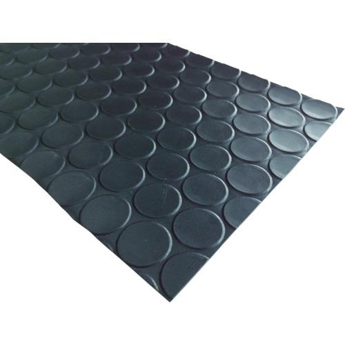 トラスコ中山 ワニ印 塩ビ養生マット コイン 黒 1.3mm厚×920mm×20m巻 0030248117