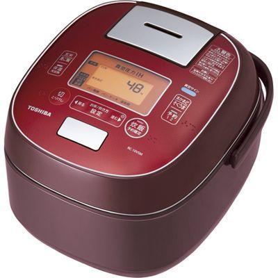 東芝 「鍛造かまど銅釜」タイプ。真空圧力IH%ジャー炊飯器5.5合炊きディープレッド RC-10VSM-RS【納期目安:1週間】