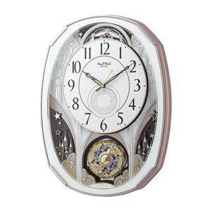 その他 薄型 からくり電波時計/掛け時計 【文字板360°回転】 ステップ秒針 『Small World スモールワールドノエル』【代引不可】 ds-1820636
