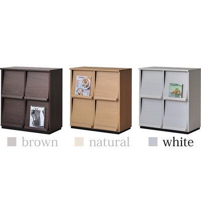 タカシン家具 ウォルフィット ディスプレイラック2列2段タイプ WH WF-8080DP-WH