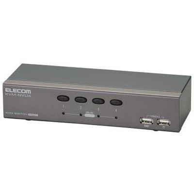 エレコム 法人向けPC切替器/USB/4ポート KVM-NVU4
