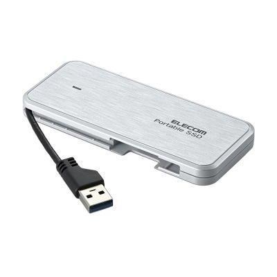 エレコム 外付けSSD/ポータブル/ケーブル収納対応/USB3.1(Gen1)対応/240GB ESD-EC0240GWH/ホワイト ESD-EC0240GWH, カミニイカワグン:d4833173 --- sunward.msk.ru