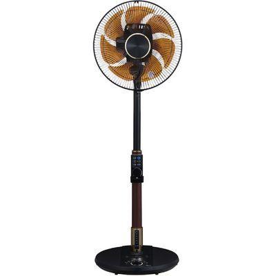 ユアサプライムス DC音声操作脱臭温度湿度Wセンサー上下左右首振り扇風機(ブラック) YT-DVJH3427YFR(K)