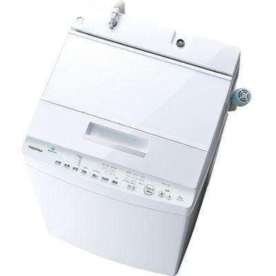 東芝 8.0kg 自動洗濯機 ZABOON (グランホワイト) AW-8D7-W