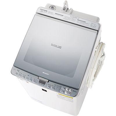 シャープ タテ型洗濯乾燥機 (シルバー系) ES-PX8C-S【納期目安:2週間】