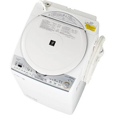 シャープ タテ型洗濯乾燥機 (ホワイト系) ES-TX8C-W【納期目安:2週間】