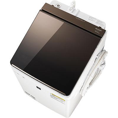 シャープ タテ型洗濯乾燥機 (ブラウン系) ES-PT10C-T【納期目安:2週間】