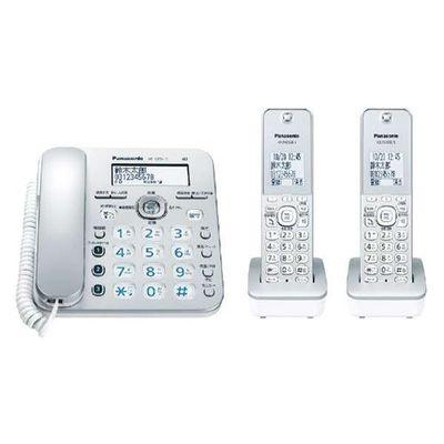 パナソニック コードレス電話機(子機2台付き) シルバー VE-GZ31DW-S【納期目安:約10営業日】