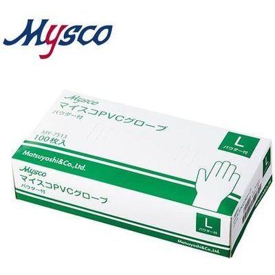 その他 【※こちらは40箱ごとでの販売となります】マイスコPVCグローブ パウダー付 サイズ:L 入数:100枚 4535847001270