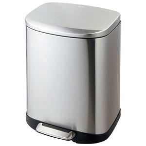 その他 ステンレス製 ダストボックス/ゴミ箱 【20L】 洗える ペダル開閉式 〔キッチン ダイニング〕 ds-2056056