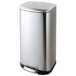 その他 ステンレス製 ダストボックス/ゴミ箱 【35L】 洗える ペダル開閉式 〔キッチン ダイニング〕 ds-2056057