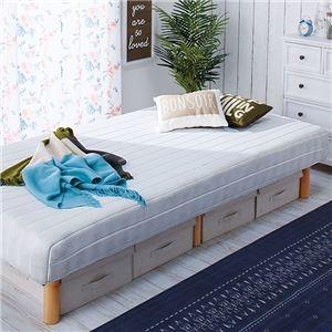 その他 脚付き圧縮マットレスベッド 【ホワイト シングル】 幅97cm 木製 ベッド下収納可 〔寝室 ベッドルーム〕 ds-2056160