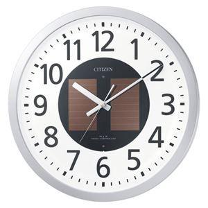 その他 リズム時計工業 ソーラー電波掛時計 エコライフM815 4MY815-019 ds-2048080