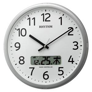 その他 リズム時計工業 電波掛時計 プログラムカレンダー01SR 4FNA01SR19 ds-2049400