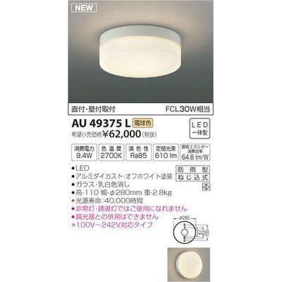コイズミ 防雨型シーリング(LED[電球色]) AU49375L