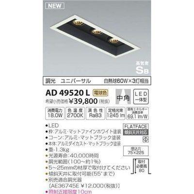 コイズミ 高気密ダウンライト(LED[電球色]) AD49520L