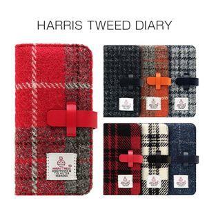 その他 SLG Design iPhone 8 / 7 Harris Tweed Diary グレー×ネイビー ds-2055452