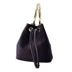 その他 Maison Boinet(メゾンボワネ) 97078G-174-147 Blackcurrant リングハンドル 巾着型 2WAY ミニバッグ ショルダーバッグ S【代引不可】 ds-2057873