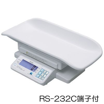 タニタ デジタルベビースケール(検定品) BD-715A 規格:RS-232C端子付 (重力補正:9区仕様) 23-5491-0109【納期目安:2週間】