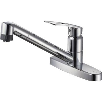SANEI シングル台付切替シャワー混合栓 K6711MEK 13 K6711MEK-13