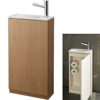 SANEI 手洗キャビネット WF819 400R-LB-T5 WF819-400R-LB-T5