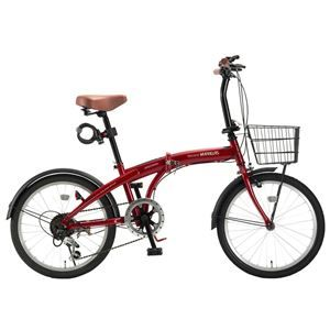 その他 MYPALLAS(マイパラス) 折畳自転車20・6SP・オールインワン HCS-01-RD レッド【代引不可】 ds-2067162