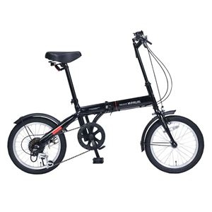 その他 MYPALLAS(マイパラス) 6段変速付コンパクト自転車 折畳16・6SP M-103-BK ブラック【代引不可】 ds-2067164