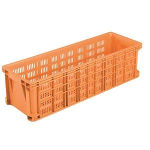 その他 【5個セット】 リステナー/網目コンテナボックス 【MB-52】 オレンジ メッシュ構造 〔みかん 果物 野菜等収穫 保管 保存 物流〕【代引不可】 ds-2042311