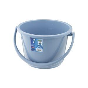 その他 【20セット】 ポリバケツ/清掃用品 【7WB】 ブルー 丸型 『ベルク』 〔家庭用品 掃除用品 業務用〕 ds-2042452