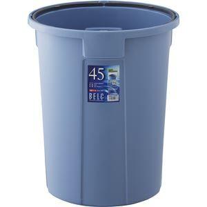その他 【10セット】 ダストボックス/ゴミ箱 【45N 本体】 ブルー 丸型 『ベルク』 〔家庭用品 掃除用品 業務用〕【代引不可】 ds-2042470