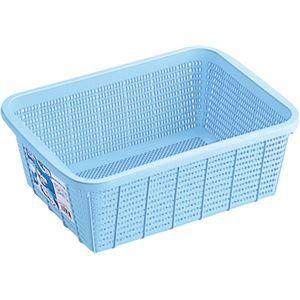 その他 【20セット】 キッチンバスケット/キッチン用品 【DSサイズ】 ブルー 材質:PP メッシュ形状 『HOME&HOME』【代引不可】 ds-2043124