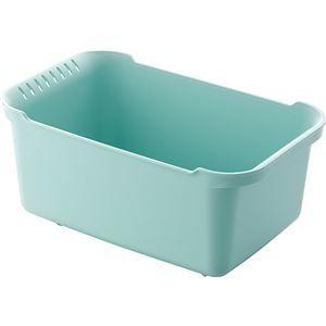 その他 【8セット】 ウォッシュタブ/洗い桶 【ブルーグリーン】 36×22×16.5cm 本体:PP 『リベラリスタ』【代引不可】 ds-2043181