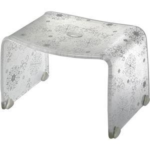 その他 【4セット】 ロマンチック バスチェア/風呂椅子 【Sサイズ オフホワイト】 脚ゴム付き 『フィルロ シュシュ』 ds-2043545