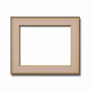 その他 【和額】黒い縁に金色フレーム 日本画額 色紙額 木製フレーム ■黒金 色紙F10サイズ(530×455mm) ベージュ ds-2070396