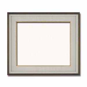その他 【高級日本画額】前面アクリル仕様 高級和額 厚みのある作品収納可 ■高級色紙F10サイズ(530×455mm)ダークオーク ds-2072112