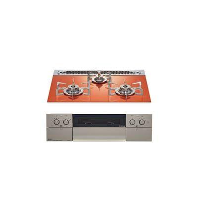 ノーリツ(NORITZ) 『piatto(ピアット)』 ワイドグリル ステンレスフェイス (フラッシュオレンジ) (75cmタイプ) (プロパンガス用LPG) N3WR9PWASPSTES-LP