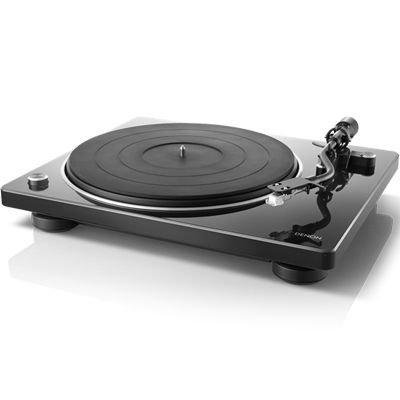 DENON MMカートリッジ対応フォノイコライザー搭載 レコードプレーヤー(ブラック) DP-400(BK)