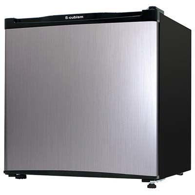 エスキュービズム 1ドア冷蔵庫 46L (シルバーヘアライン) RM-46L01SL