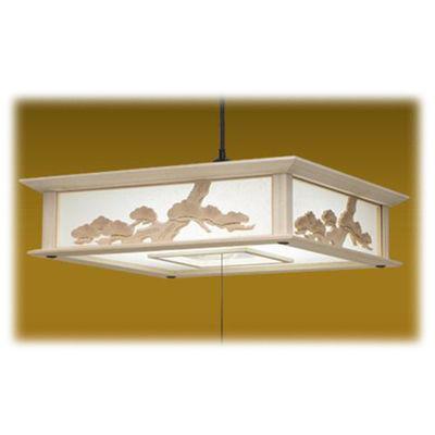 タキズミ LEDペンダントライト 調光 昼光色 12畳用 木製枠 彫刻飾り RVM12048【納期目安:約10営業日】