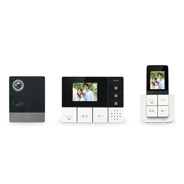 ELPA DECT方式ワイヤレステレビドアホン モニター&ポータブルセット DHS-TMP2320