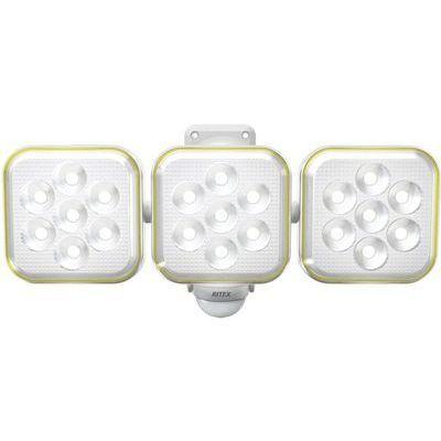 RITEX フリーアーム式 防雨型 LEDソーラーセンサーライト 5Wx3灯 S-90L 4954849530906