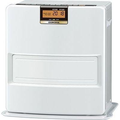 コロナ エコモードも搭載。W消臭、足元温風で快適。石油ファンヒーター VXシリーズ FH-VX3618BY-W