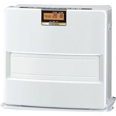 コロナ エコモードも搭載。W消臭、足元温風で快適。石油ファンヒーター VXシリーズ FH-VX5718BY-W